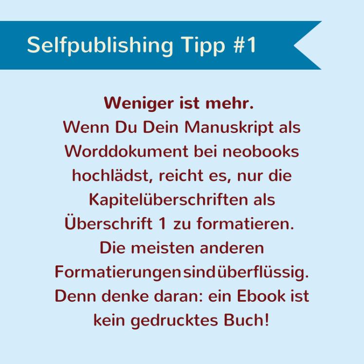 Tipp für Selfpublisher